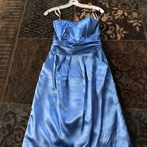 David's Bridal Satin Dress